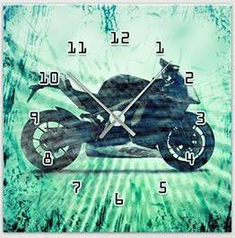 """Картина-часы (45х45 см) """"Мотоцикл"""""""
