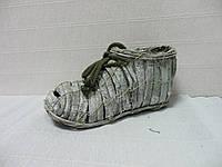 Кашпо для декора Ботинок из коры, 23х11см