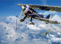 "Картина-часы (50х70 см) ""Самолетики"""
