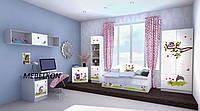 """Комплект детской мебели для комнаты """"Совушки""""  Размер кровати 190*80 см"""