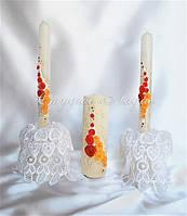 """""""Краски осени"""", комплект свечей для обряда """"Домашний очаг"""""""