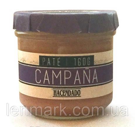 Паштет свиной Hacendado Pate Campana БЕЗ ГЛЮТЕНА, 160 г