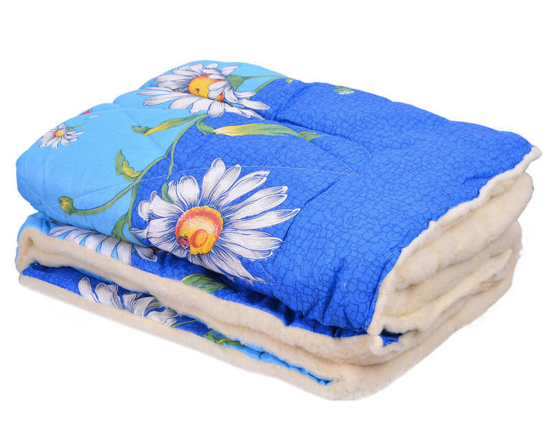 Полуторное одеяло овечья шерсть оптом и в разницу
