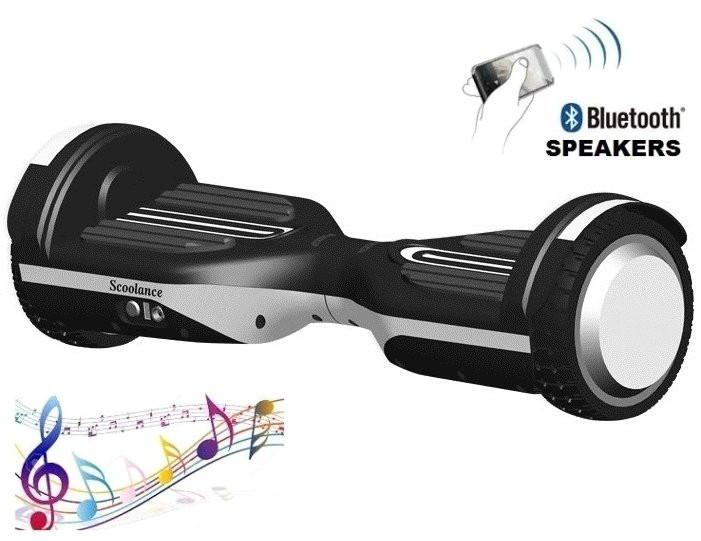 """Гироборд Erover BD-S007M белый, колеса 6,5"""", мощность 700W, USB, LED, до 100кг, 10км/ч, колонка, пульт, сумка"""