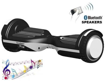 """Гироборд Erover BD-S007M белый, колеса 6,5"""", мощность 700W, USB, LED, до 100кг, 10км/ч, колонка, пульт, сумка, фото 2"""