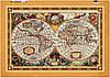 """Схема для вышивки бисером """"Карта"""", на холсте А2"""