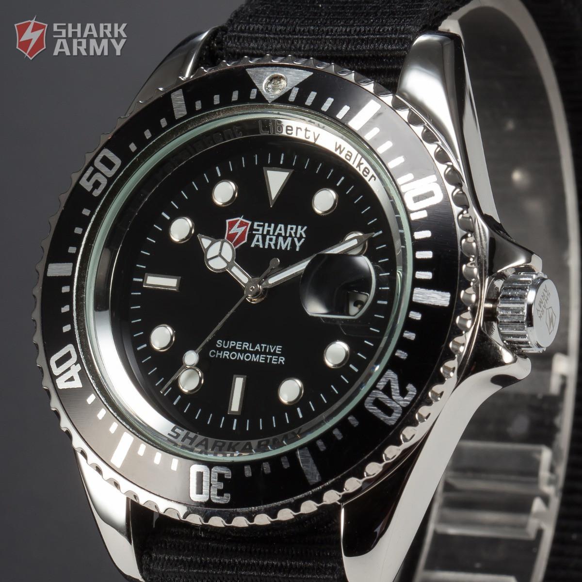 Часы SHARK Army Black Японские механизм SAW014