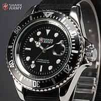 Часы SHARK Army Black Японские механизм SAW014, фото 1