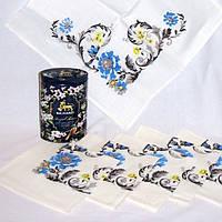 Набор салфеток 6 шт. лен 100% и чай в подарочной упаковке