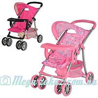 Детская прогулочная коляска для кукол 9304: корзина для игрушек, размер 54х34х55см