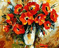 Картина по номерам на холсте Опадающий букет худ. Афремов, Леонид (VP060) 40 х 50 см