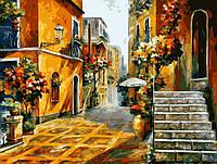 Картина-раскраска Солнце Сицилии худ. Афремов, Леонид (VP076) 40 х 50 см