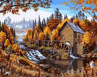 Картина по номерам Дом в лесу худ. Даелин, Марк (VP143) 40 х 50 см