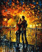 Раскраска по номерам Пара на мосту худ Афремов, Леонид (VP379) 40 х 50 см