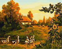 Раскраска по цифрам Вечерняя деревня Худ Колисной Геннадий (VP495) 40 х 50 см