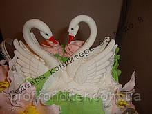 "3D молд ""Свадебные лебеди"""