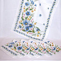 Кухонные полотенца РОМАШКА 100% лен
