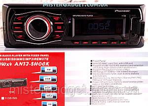Автомагнитола Pioneer 1135 MicroSD MP3, USB, AUX, FM копия, фото 3