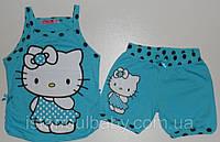"""Детская одежда оптом (Турция). Костюм для девочек """"Кити"""" рост 104,110,116,128,140  100 % котон"""