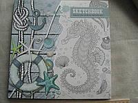 """Блокнот-тетрадь квадратной формы в картонном переплете """"Скетчбук"""" """"Bourgeois"""" 36л. чистый лист 26,5х26 см."""