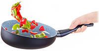 Сковородка Вок изогнутая Delimano Ceramica Delicia, фото 1