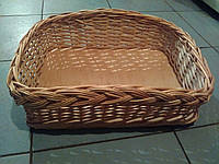 Плетеный лоток из лозы фигурный