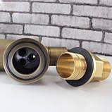Смеситель (кран с питьевой водой) на кухню для мойки раковины или умывальника бронза однорычажный, фото 2