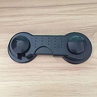 Крючок - блокиратор для створчатых дверей Черный