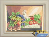 Схема для полной вышивки бисером - Бокал вина и виноград, Арт. НБп3-14