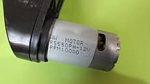 Редуктор с мотором 12 Вольт 10000 об/мин для детских электромобилей M 2735, HL718, M2395, фото 3