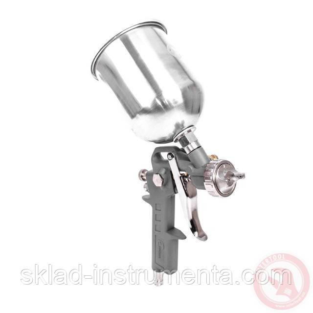 Пистолет покрасочный пневматический, форсунка 1,5 мм, В/Б металл, 600 мл, 3,5-5 бар