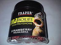 Бойлы тонущие TRAPER(ТРАПЕР) клубника, прикормка для рыбы , товары для рыбалки