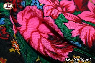 Хустка Українська вовняна справжня з шовковою бахромою, фото 3