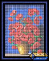 Схема для вышивки бисером - Маки в глиняной вазе, Арт. НБп3-29-2