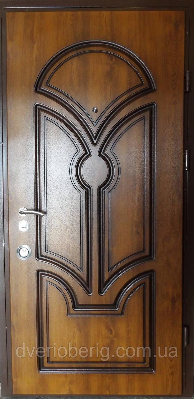 Входная дверь модель П5-337 золотой дуб + патина