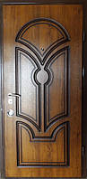 Входная дверь модель П5-337 золотой дуб + патина, фото 1