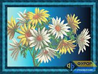 Схема для вышивки бисером - Цветы желто-белые, Арт. НБч3-32