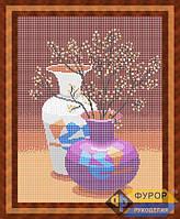 Схема для вышивки бисером - Натюрморт из двух ваз, Арт. НБп3-33