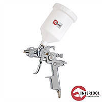 Intertool PT-0103 HVLP STEEL PROF Краскопульт 1,4мм верхний пластиковый бачок 600 мл