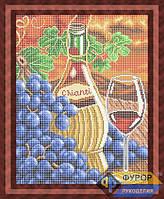 Схема для полной вышивки бисером - Виноград и бутылка вина, Арт. НБп3-38