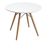 Стол круглый нераскладной Прайз d800*700 (белый)