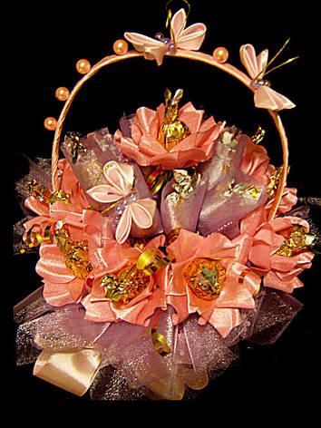 Букет из конфет на подарок Розовый нектар, фото 2