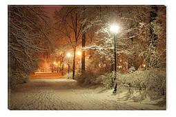 Светящиеся картины Startonight Зима Парк Природа Пейзаж Снег Печать на Холсте Декор стен Дизайн дома Интерьер