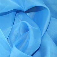Тюль небесно-голубая Вуаль, однотонная + высококачественный пошив, фото 1