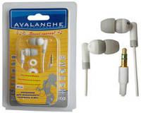 Навушники Avalanche Mp3-101 білий (3.5mm)
