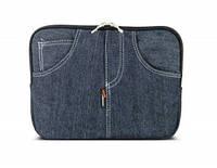"""Сумка для iPad,нетбука,планшета LF1006 10"""" джинс, синій, підкладка замш"""