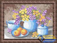 Схема для частичной вышивки бисером - Цветы на кухне, Арт. НБч3-54