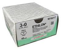 Этилон (ETHILON) 3-0 режущая игла 26мм нить 45см 3/8