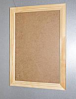 Рамки деревянные рельефные под отделку 25мм. Размер, см.  17*17