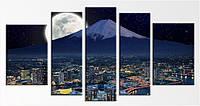 Модульные Картины Startonight Йокогама 5 частей Город Горы  Печать на Холсте Декор стен Дизайн дома Интерьер